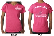 Pink t-shirt with boat logo
